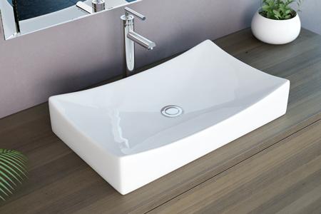 neg waschbecken waschschale uno92a aufsatzbecken waschtisch eckig lotus effekt ebay. Black Bedroom Furniture Sets. Home Design Ideas
