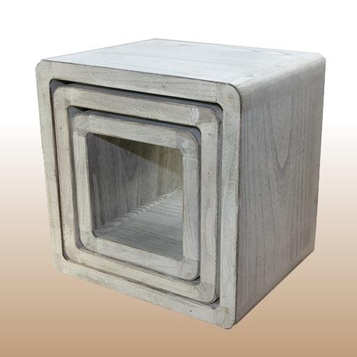 NEG TischSet Vinuja (shabby weiß) Beistelltisch
