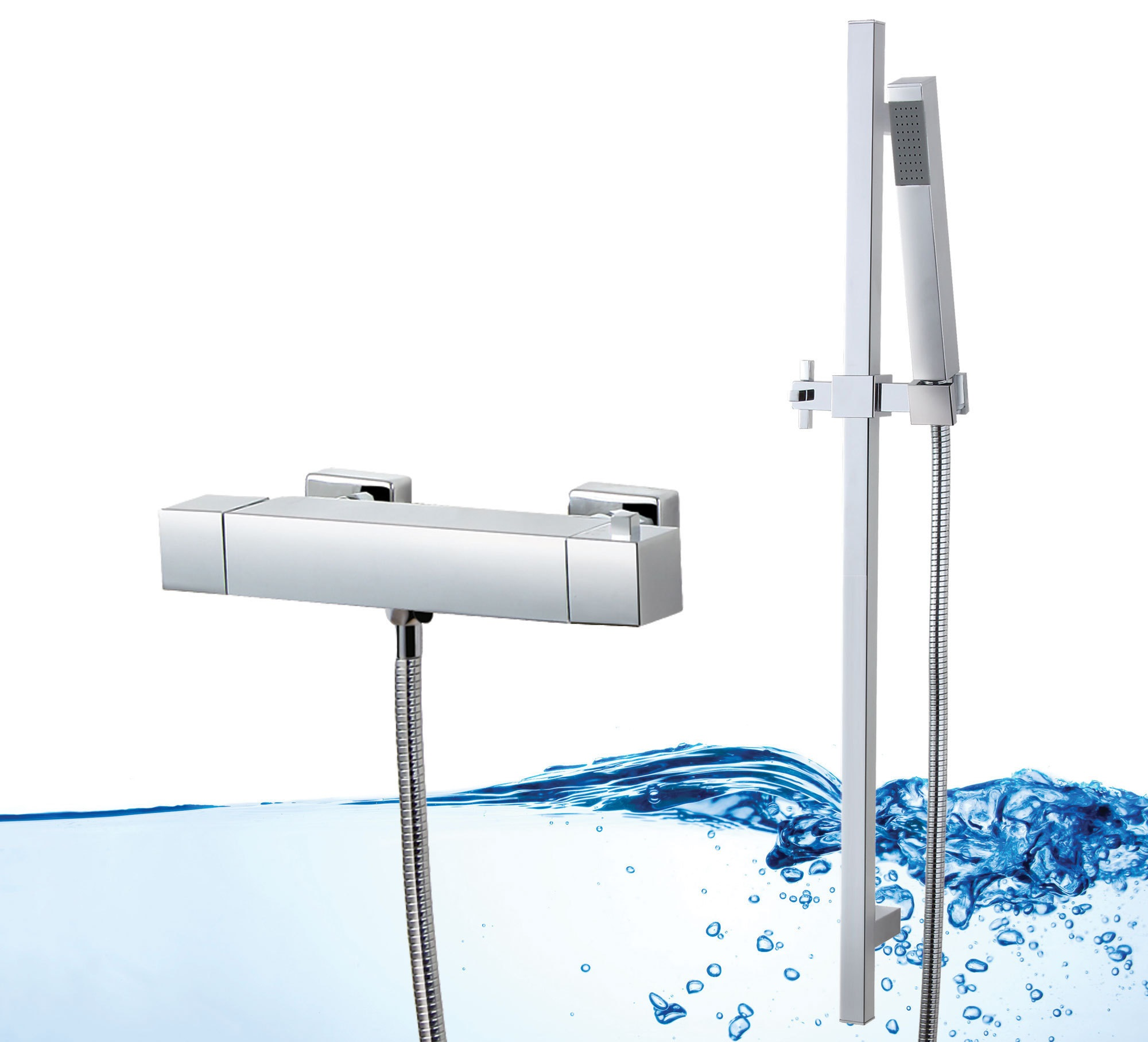 Neg duschsystem cube dusche mit thermostat armatur for Thermostatarmatur dusche