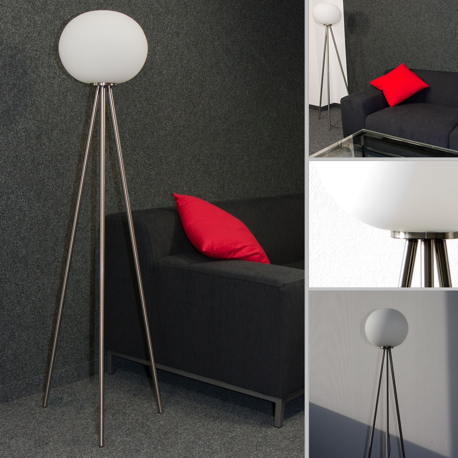 neg stehleuchte fondo palloni lampe stehlampe standleuchte licht glas kugel wei ebay. Black Bedroom Furniture Sets. Home Design Ideas