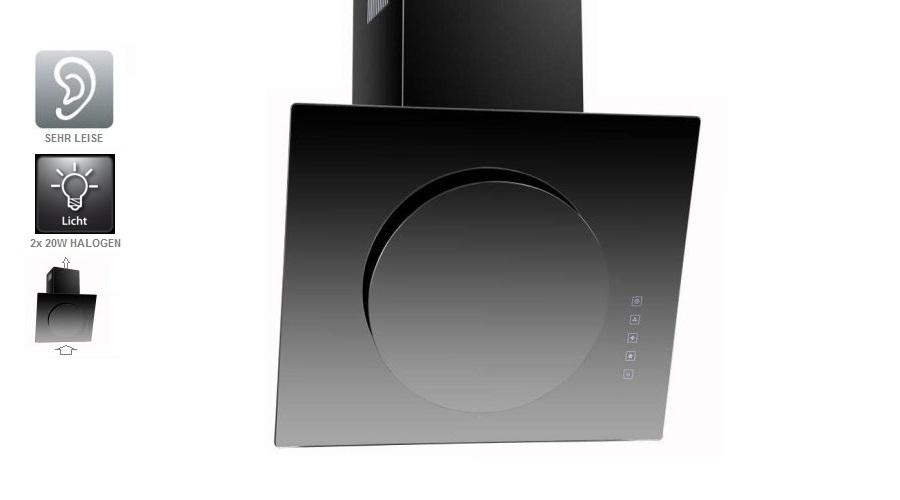 neg dunstabzugshaube kf632 rund 60cm abluft umluft. Black Bedroom Furniture Sets. Home Design Ideas