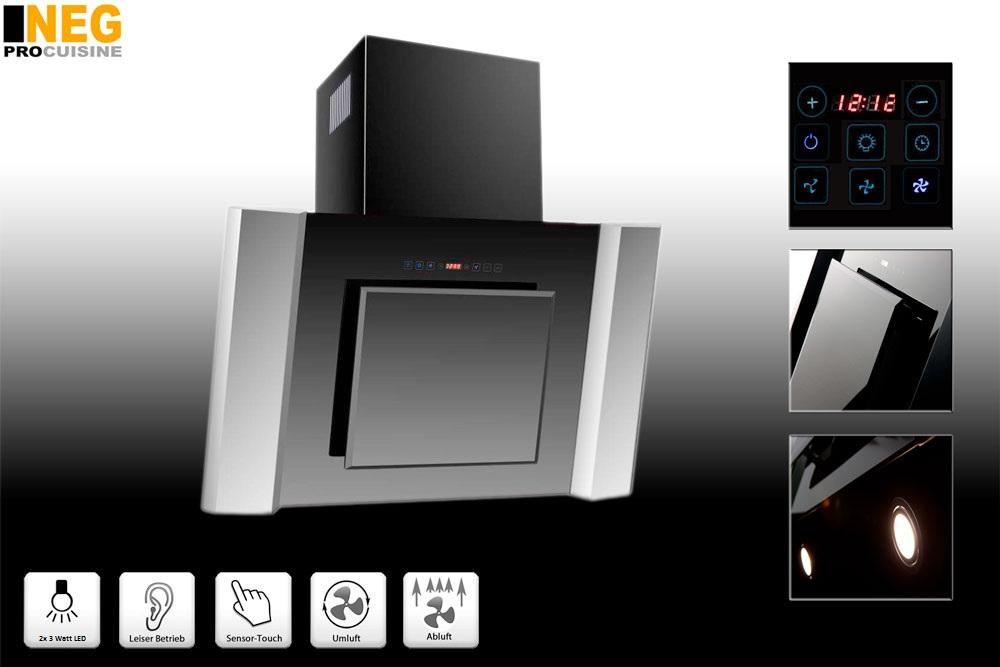 neg dunstabzugshaube kf917 abluft umluft wandhaube led. Black Bedroom Furniture Sets. Home Design Ideas
